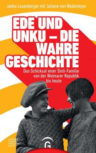 """Cover """"Ede und Unku - die wahre Geschichte"""" von Janko Lauenberger. Das bunte Cover zeigt ein Foto der Kinder."""